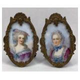 Madame De Lamballe and De Pompadour Portraits