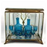 Napoleonic Era Tantalus Liqueur Set With Glass Box