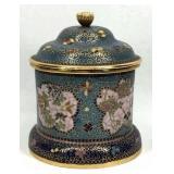 Ornate Cloisonne Lidded Jar