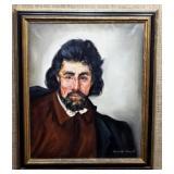 Portrait of Man by Kranitz Margit (1928-2000)