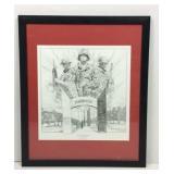 Framed Ranger Lithograph by Dietz