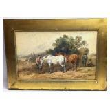 Harden Sidney Melville Farmer and Horse Scene