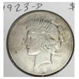 1923-D Peace Dollar Coin
