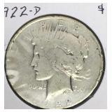 1922-D Peace Dollar Coin