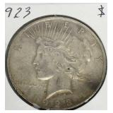 1923 Peace Dollar Coin