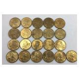 21 - 2000 Sacajawea Dollar Coins