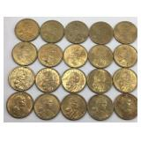 20 - 2000 Sacajawea Dollar Coins