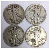 4 - 1943-S Walking Liberty Half Dollar Coins