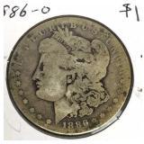1886-O Morgan Silver Dollar Coin