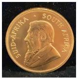 1981 One Ounce Gold South African Kruggerand Coin