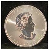 2019 Canada Maple Leaf 5 Dollar Coin