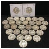 31 Washington Silver Quarters