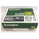 Remington UMC Mega Pack 9mm Luger Ammunition 250Rd