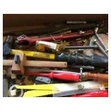 Assorted Tools and Jigsaw Blades