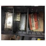 Misc. Items in Metal Box