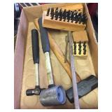 Assorted Mallet Hammers and Bit Sets