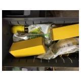 Assorted Electric Prong Plug in Metal Bin