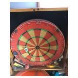 Dart Board in a Wood Case