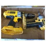 2 Dewalt Battery Powered Tools