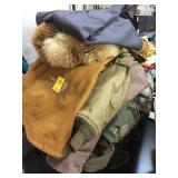 Asst Coats, Shirt, and Fur hat