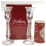 2 Gorham Crystal candlesticks
