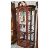 Display case, mahogany for glass shelves