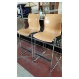 2 molded plywood bar stools