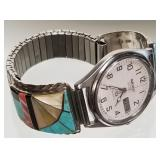 Seiko watch Zuni sterling silver Native American