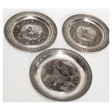 3 Decorative German Wall Plates