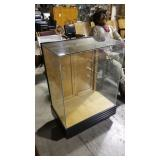 Glass display cabinet, no shelves, 39x27x19