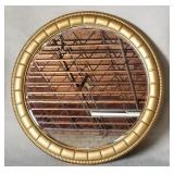 45 dia  Round gold framed mirror