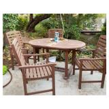 Wood  Patio set table and chairs