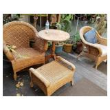 2 wicker chairs and ottoman,  Pick up in San Jose