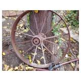 Antique Farm  Implement wheel,  Pick up Wednesday