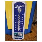 "Packard thermometer tin 8"" x 27"""