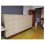 "3  filing cabinets on wheels, 57"" x 108"" x"