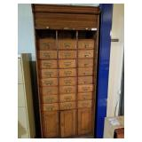 Antique Roll top wooden filing cabinet, 78
