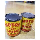 FM 2 gallon gas can and 2 cans of Mckay motor