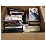 Box of VHS movies apx 40.