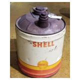 VINTAGE 5gal  Shell Gas Can