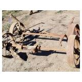 Front and rear wagon axles
