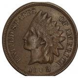 Lot 3) 1908 Indian Head Cent AU (5481026)