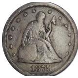 Lot 49) 1875-S Twenty Cent Piece VG (5492735)