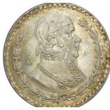 Lot 81) 1957 Mo Mexico 1 Peso Silver BU (5500278)