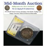 Mid-Month Coins Currency Comics & Cards Auction