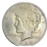 1924 Peace Dollar AU
