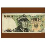 Lot 43) Banknotes of all Nations 50 Narodowy Bank Polski