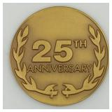 Lot 54) Bergen County New Jersey Coin Club 25th Anniversary Bronze Medal (5464195)