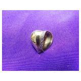 14K YELLOW GOLD HEART PENDANT W/ 8 DIAMONDS