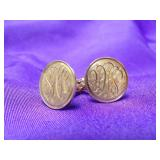 14K YELLOW GOLD CUFF-LINKS